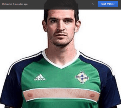 Lafferty with his t*ts out (courtesy of bangorzane on Our Wee Country)
