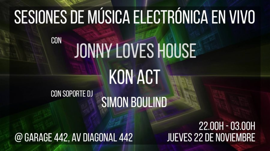 Live Electronic Session with Jonny Loves House & Kon Act