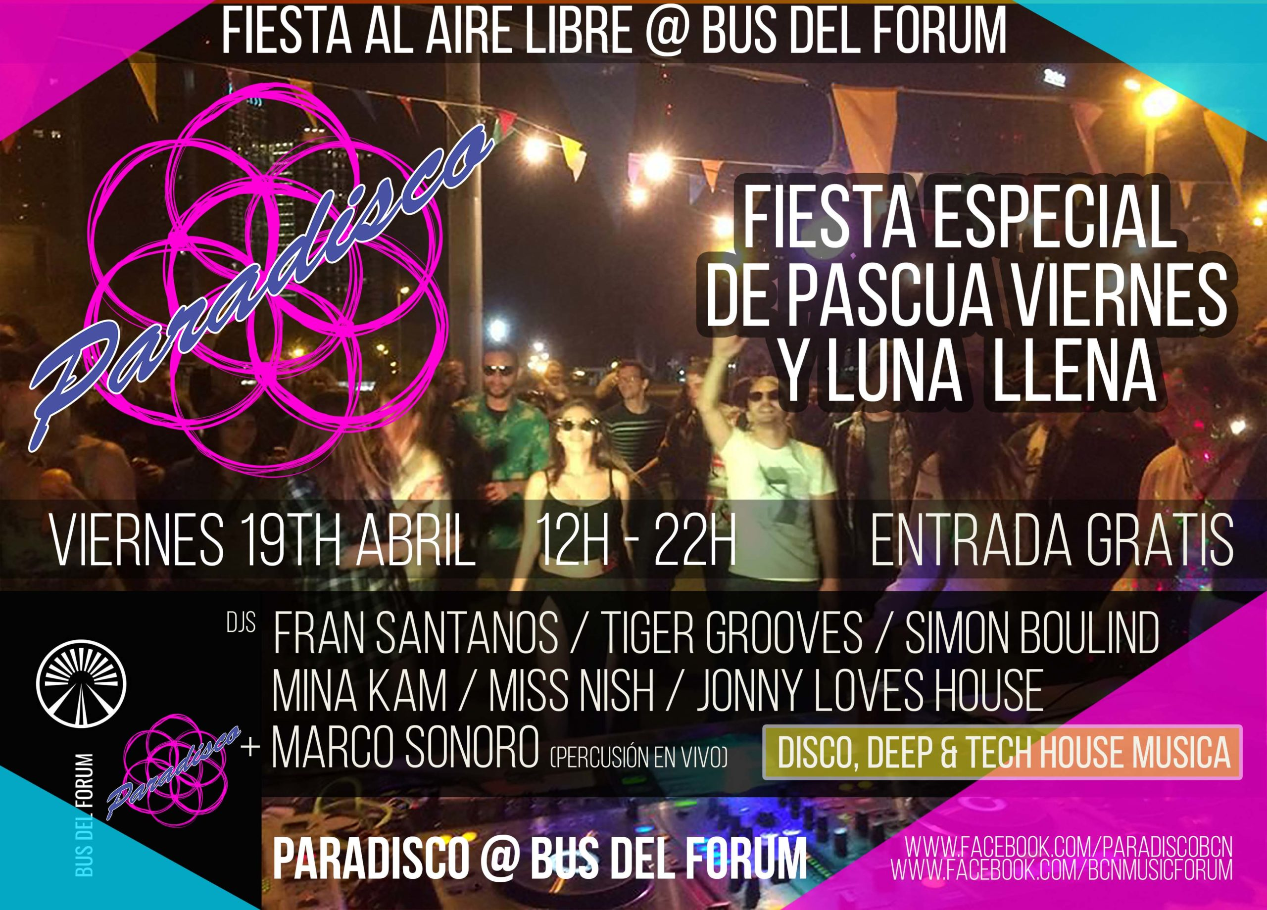 Paradisco @ Bus Del Forum Barcelona