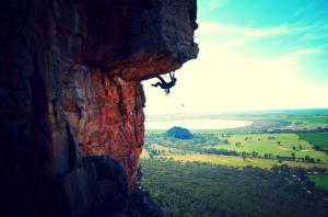 My first taste of Aussie rock at Mt Arapiles.
