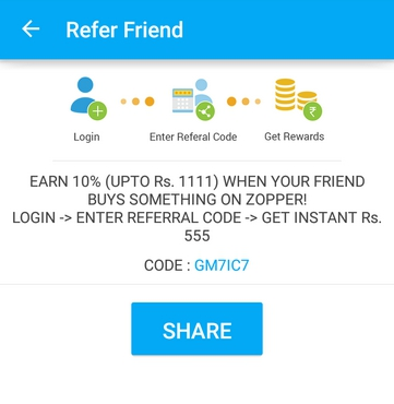 zopper refer and earn