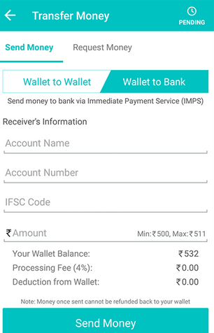 mobikwik transfer money