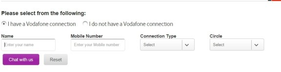 vodafone customer care online chat