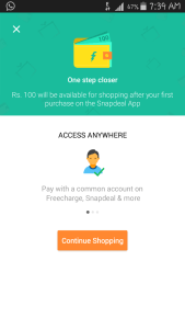Snapdeal Unlimited Referral Trick - freecharge credits