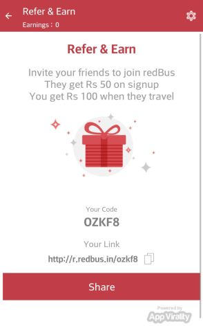 Redbus Refer and Earn