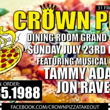 Jon Raven @ Crown Pizza Dining Room Grand opening