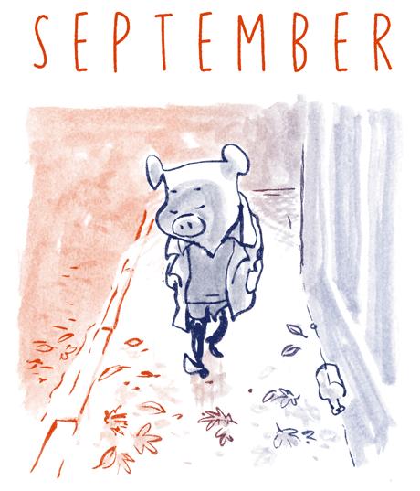 September efterår tegning skræntskov