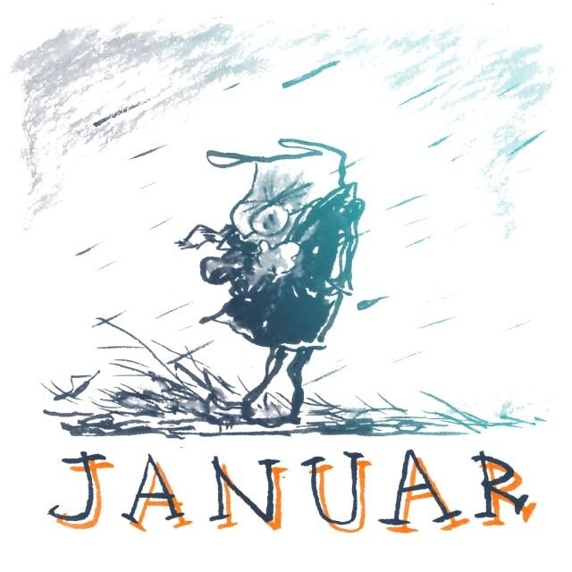 Januar januar januar vinter vejr våd skræntskov