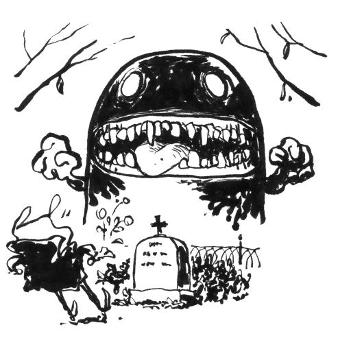 inktober skræntskov grav monster