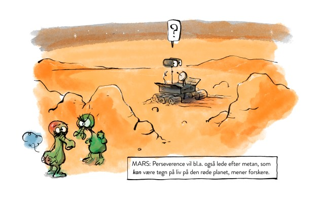 Perseverance Mars life cartoon