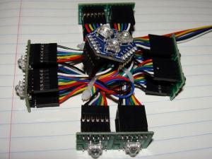 4-ShiftBrites-1-Megabrite RGB LED Module