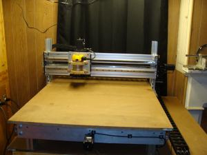 DIY CNC Router with Igus Energy Chain Installed