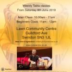 Swindon Tabla Classes Flyer Summer 2019