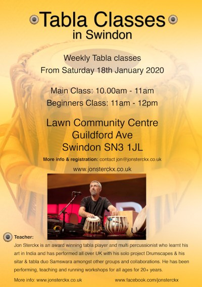 Swindon Tabla Classes 2020