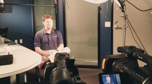 Panasonic AGHPX250 in interview action at Kelly Blue Book
