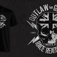 Race Ready Skull T-shirt Artwork