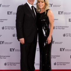 Professional couple at corporate gala in Los Angeles, CA.