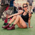 Las Vegas model shows off her Dr Marten boots at Punk Rock Bowling