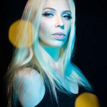 Blonde Sarah in beauty portrait bokeh