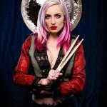 blonde female musician trx cymbals sponsored artist