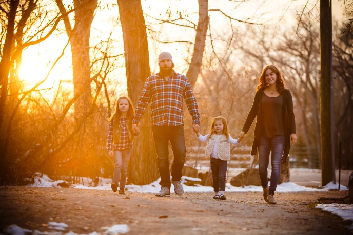 Sun flare on a family of 4 in Utah.
