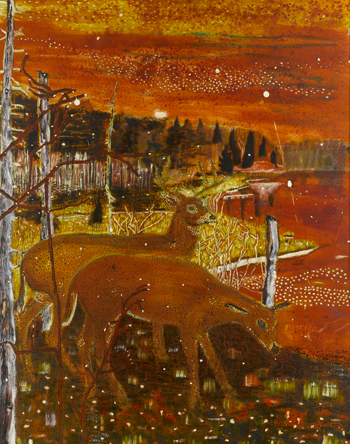 peter doig artwork, red deer