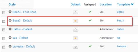 Beez3 template in Joomla 3.0