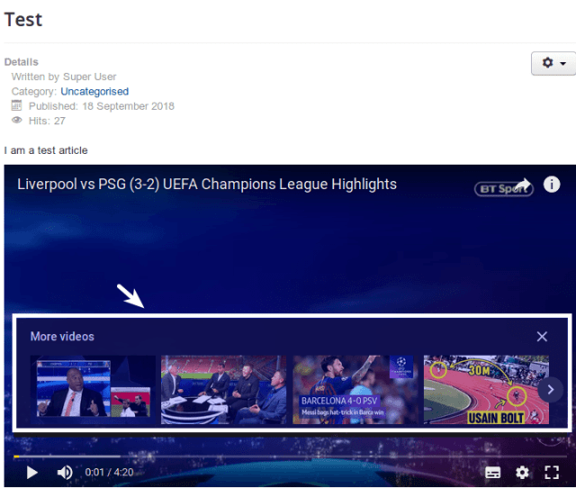 Related Videos Displayed By Default