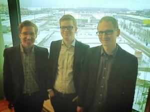 Ympäristölautakunnan tehotiimi, eli allekirjoittanut, puheenjohtaja Matti Niemi ja varapuheenjohtaja Leo Stranius