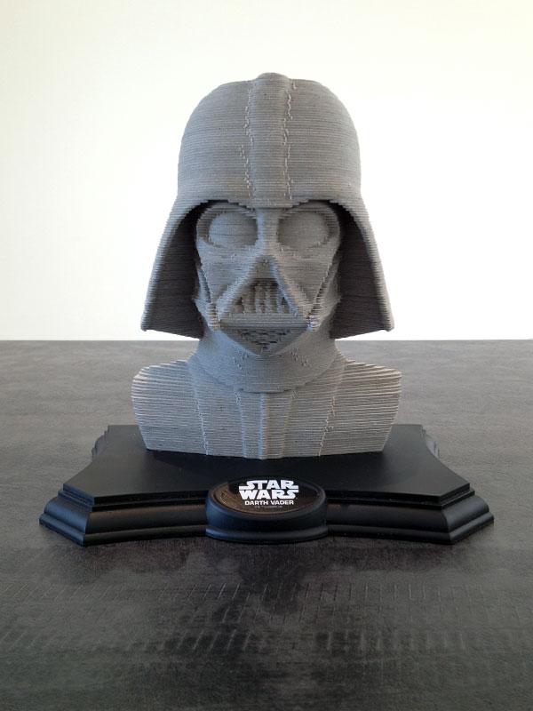 Voici le résultat, une superbe sculpture Dark Vador