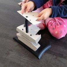 Même notre fille est arrivée à jouer à ce puzzle 3D.
