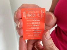 Un petit cadeau est présent dans la pochette d'étiquettes A-qui-S