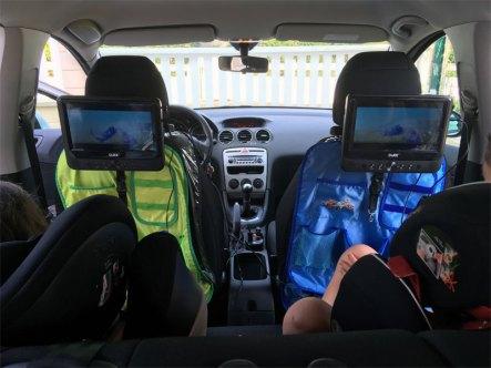 lecteur dvd automobile double écran