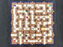 plateau du jeu de société labyrinthe