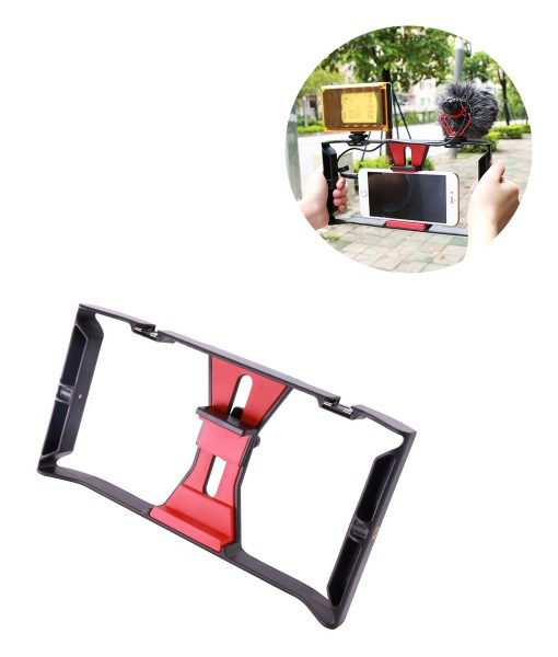Ulanzi-Handheld-Phone-Vlogging-Setup-Video-Stabilizer-with-LED-light-Microphone-for-iPhone-8-7plus-for-1