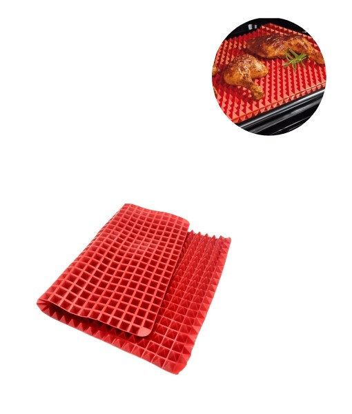 Non-Stick-Heat-Resistant-Raised-Pyramid-Shaped-Silicone-Baking-Roasting-Mats-16-Inches-X-11-5 (1)