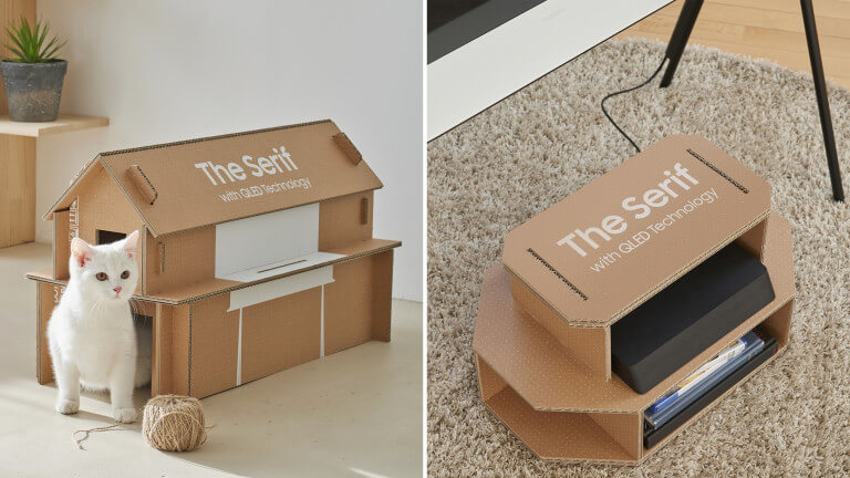 packaging réutilisable recyclable samsung