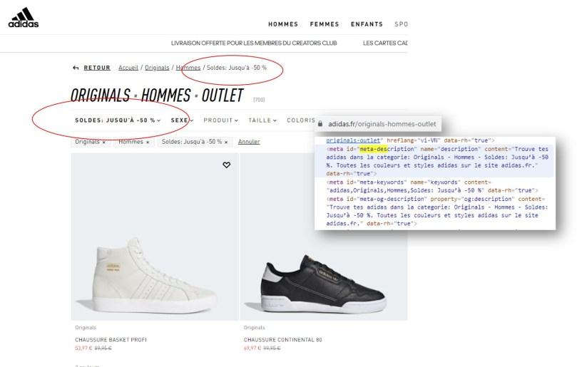 seo des soldes : le cas adidas pour optimiser le référencement naturel