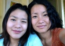 Jora Trang and daughter