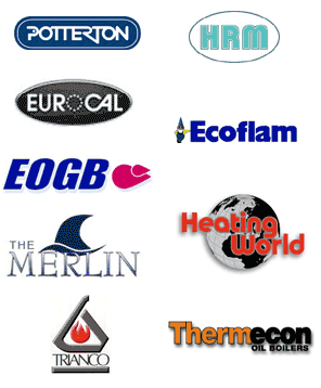 Potterton, HRM, Eurocal, Ecoflam, EOGB, Merlin, Heating World, Trianco, Thermecon