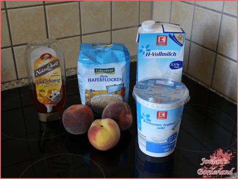Pfirsich-Frühstücksdrink