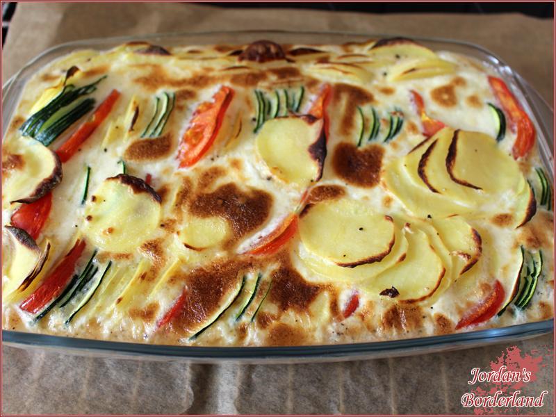 Zucchini-Kartoffel-Tomaten Auflauf