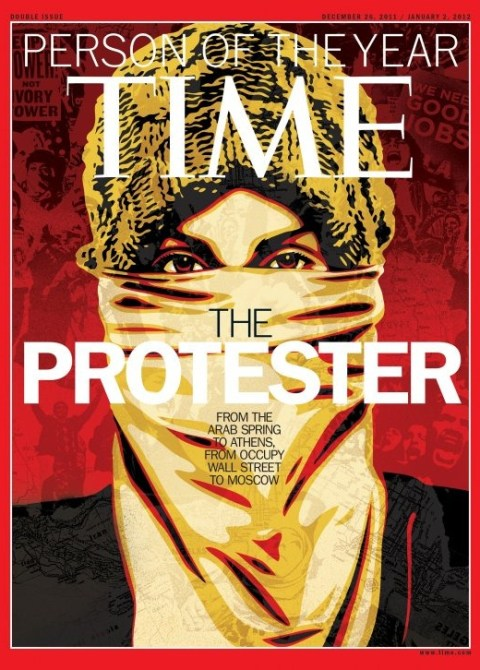 Time's person of the year 2011 the protester