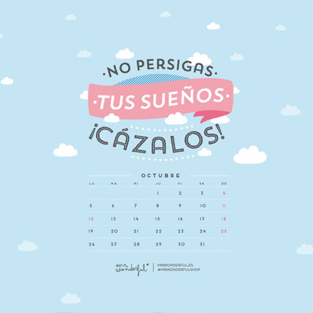 fondos de pantalla mr wonderful calendario