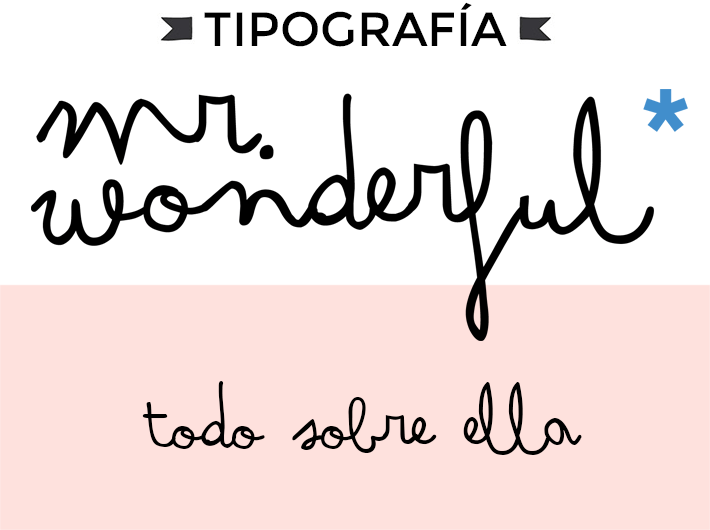 tipografia mr wonderful