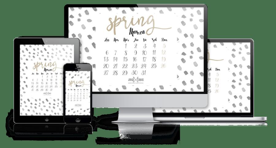 Fondos de Pantalla con el Calendario de Marzo