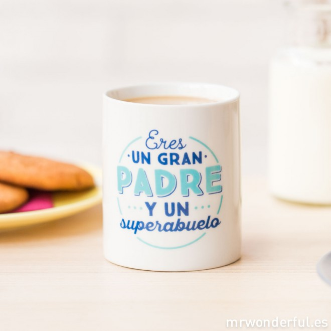 tazas mr wonderful para papás