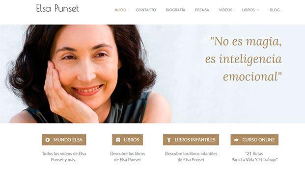 Diseño Web Elsa Punset por Jorge Cobos