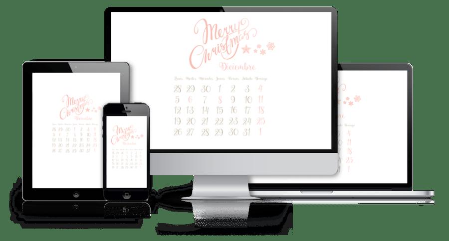 fondo de pantalla calendario diciembre