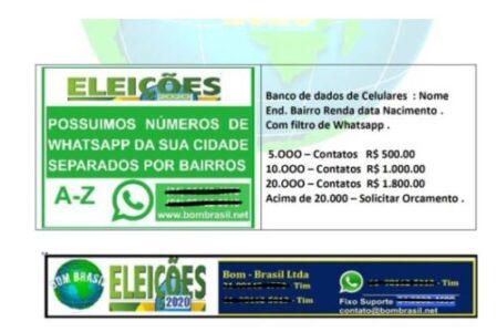 Empresas burlam  lei eleitoral e vendem serviços de propaganda eleitoral via WhatsApp